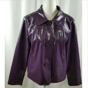 Studio Works Women's Purple Shiny Jacket Medium